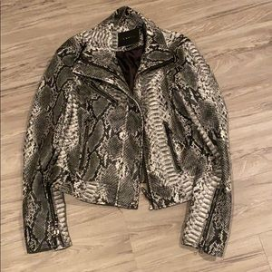 Blank NYC Snakeskin Jacket Like new size small